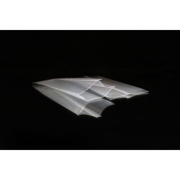 "2.5"" x 6.0"" OD Transparent Finseal Pouch (1,000/case) - 025PM406ODT"
