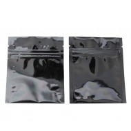 "3.4"" x 4"" Black MylarFoil Pouch with ZipSeal; (1000/case) - 034MFBOZE04FTN"