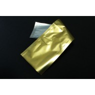 "4"" x 14"" OD Clear/Gold Pouch; (1000/case) - 04VG/S/C14"