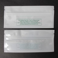 "6.0"" x 2.75"" Clear/White Medical Bag Disclaimer on white side with No Tear Notch; (1,000/case) - 06VST0275MEDNTN"
