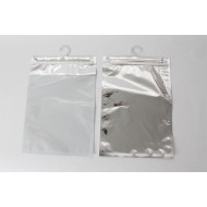 "1116PPH08625 - 11.0"" x 16.0"" O.D. Silver & Clear ZipSeal Hanger Bag; 300/case"