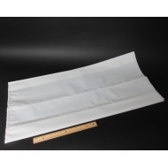 "16"" x 34"" x 5.5"" OD White Large Side Gusset Bag; (20 bags) - 16W34LSG055W"