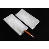 "2.25"" x 4.625"" White Mylar Foil Pouch (4,000/case) - 225MFW4625TNL"