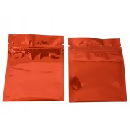 "3"" x 3"" Orange MylarFoil ZipSeal Mini Pouches; (1000/case) - 30MO0303FOZE"