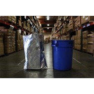 "38"" x 42"" Mylar Foil Bag; (100/case) - 38MFS42"
