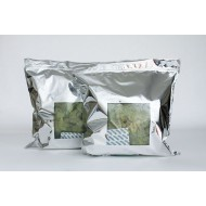 "16.5"" x 17.5"" Mylar Foil Bag with Window and Zipper; (250/case) - 4DM165175"