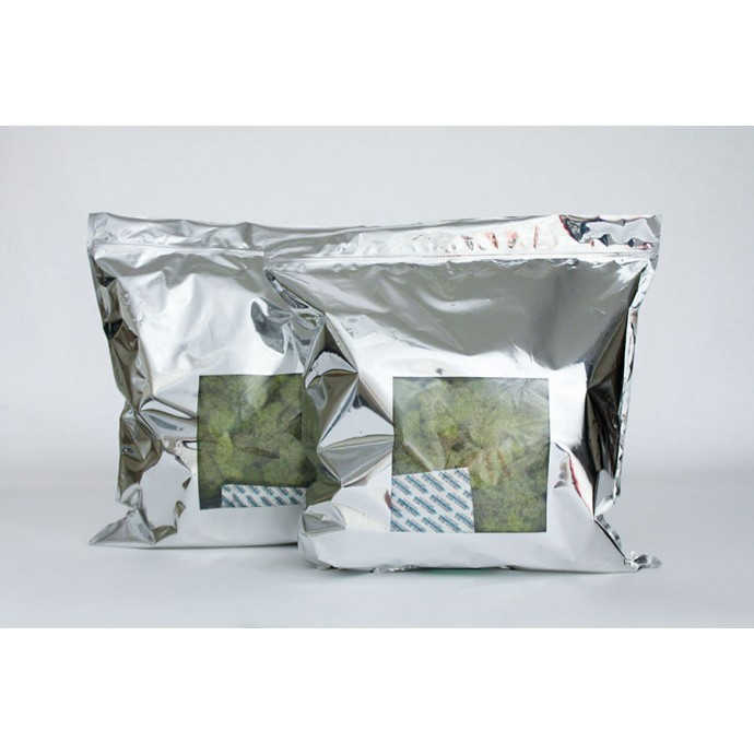 "16.5"" x 17.5"" Mylar Foil Bag with Window and Zipper; (250/case) - 4DM165175"