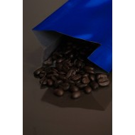 2OZBL - 2 ounce blue MylarFoil coffee bag without valve; (2,000/case)