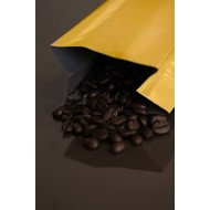 6OZGO - 6-10 Ounce Gold MylarFoil Coffee Bag Without Valve; (1,000/case)