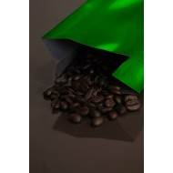 6OZGR - 6-10 Ounce Green  MylarFoil Coffee Bag Without Valve; (1,000/case)