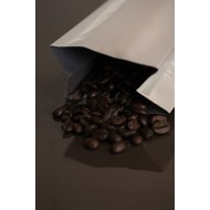 2OZWH - 2 ounce white MylarFoil coffee bag without valve; (2,000/case)
