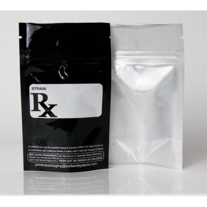 "3.125"" x 5"" x 1"" OD Black/Clear RX Bar & SB420 CA Pouch; (1,000/case) - AAVB01Z420LRRC"