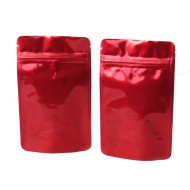 """ARD02Z: 4"""" x 6.41"""" x 2.25"""" Red/Red Bag MylarFoil Stand Up Pouch (1,000/case)"""