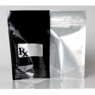 "4"" x 6.41"" x 2.25"" Clear/Black RX Bar & SB420 CA Stand Up pouch; (1,000/case) - AVB02Z420LR"