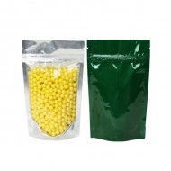 """AVGR02Z - 4"""" x 6.41"""" x 2.25"""" clear/green bag stand up pouch (1,000/case)"""