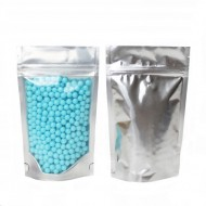 """4"""" x 6.41"""" x 2"""" Clear/Silver Stand Up Pouch With Rounded Corners; (1,000/case) -  AVS02ZRC"""