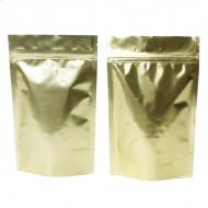 "5"" x 8"" x 3"" OD Gold Mylar Foil Stand Up Pouch; (1,000/case) - BG03Z"