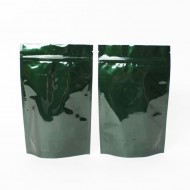"""6"""" x 9.37"""" x 3.25"""" OD Green Mylar Foil Stand Up Pouch; (1,000/case) - CGR560C325"""