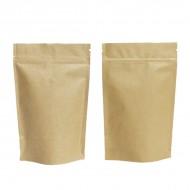 "6"" x 9.6"" x 3.25"" OD Kraft Foil Stand Up Pouch; (1,000/case) - CLK325Z"