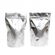 """6"""" x 9.37"""" x 3.25"""" OD Silver Mylar Foil Stand Up Pouch; (1,000/case) - CR325ZRC"""