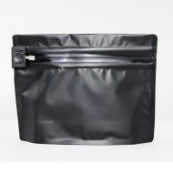 "ZCR0806BG3: 8.0"" x 6.0"" x 2.36"" O.D. Black PharmaLoc™ stand up pouch with child resistant ZipSeal; 250/case"