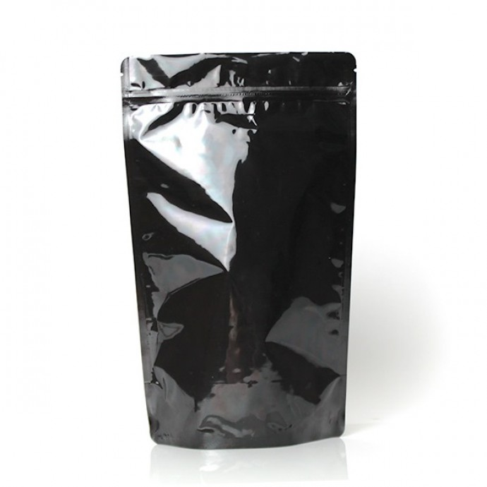 """6.69"""" x 11"""" x 3.5"""" Black Mylar Foil Stand Up Pouches (Pack of 100) - DBB035ZRC"""