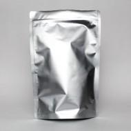 "9"" x 13.375"" x 4.75"" OD Silver Mylar Foil Stand Up Pouch; (250/case) - FDR0475Z"
