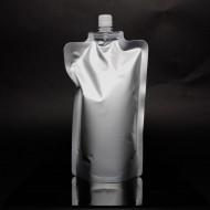 """FTSSP1000CSISL - 6.25"""" x 10.5"""" x 3.625"""" Silver Stand Up SpoutPak™ Pouch w/ 16mm Spout (250/case)"""