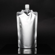 "5"" x 8.625"" x 3.125"" Silver SpoutPak™ with 16mm Spout (500/case) - FTSSP500CSISL"
