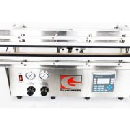 GVS3600R-PLC: 36 Inch Twin Retractable Nozzles Dual Heat Vacuum Sealer