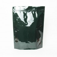 """14.5"""" x 19"""" x 6"""" OD Clear/Green Stand Up Pouch (250/case) - LPTVGR01Z"""