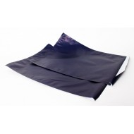 "12"" x 15.5"" OD Navy Blue Pouch with 1"" Lip and Tape; (500/case) MTC12155L"