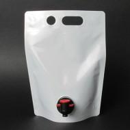 SP15L75M:  1.5L White Stand Up Barrel Pouch with Tap Spout (250/case)