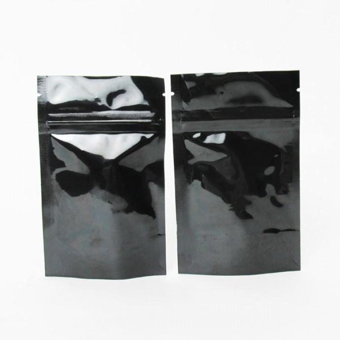 "3.125"" x 5"" x 2"" Black Mylar Foil Stand Up Pouch; (1,000/case) - AABB01Z"