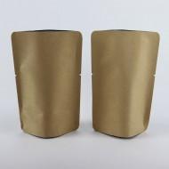 "4"" x 6.0"" x 2.25"" Kraft Foil Stand Up Pouch; (1000/case) - ANK025TNRC"