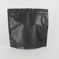 "14.5"" x 13.75"" x 6"" OD Matte Black Stand Up Pouch; (250/case) - LMBS01RC"