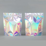 "6.5"" x 8"" x 2.5"" OD Holographic Stand Up Pouch; (1000/case) - CSUPH025Z"