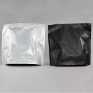 "14.5"" x 13.75"" x 6"" OD Clear/Matte Black Stand Up Pouch (250/case) - LVMBS01RC"