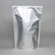 "9"" x 13.375"" x 4.75"" OD Mylar Foil Stand Up Pouch with Slider Zipper; 250/case - FDR0475SDRZFTZ"