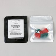 "3.4"" x 4"" OD Clear/Printed 420 CA Pouch with ZipSeal (1,000/case) - 034VB04OZE420RC"