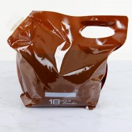 """12.75"""" x 10.625"""" x 6.0"""" 18 Hour Growler Stand up pouch with Handle (250/case) - FTSSP1G18HG"""