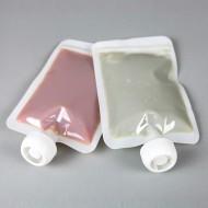 "SP0406DTZLC - 4""x 6"" OD Transparent PAKPM4K White 2-Side Seal flat SpoutPak™ (1000/case)"
