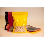 "7.5"" x 11.25"" OD Yellow Label Ready Pouch with Tamper Evident ZipSeal; (1,000/case) - V5ZBXYW07511"