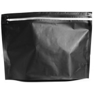 "ZCR122509B:  12.25"" x 9"" x 4"" OD Child Resistant ZipSeal Black Pouch (50 Bags)"