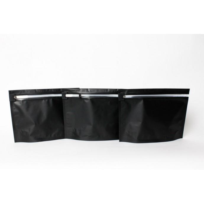 "ZCR122509B:  12.25"" x 9"" x 4"" OD Child Resistant PharmaLoc Zipper Bags - Black (250/case)"