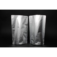"""7"""" x 11.75"""" x 4"""" OD Dull Silver Stand Up Pouch; (500/case) - ENS04TNRC"""