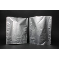 """9.75"""" x 11.75"""" x 4"""" OD Dull Silver Stand Up Pouch; (250/case) - EWS04TNRC"""