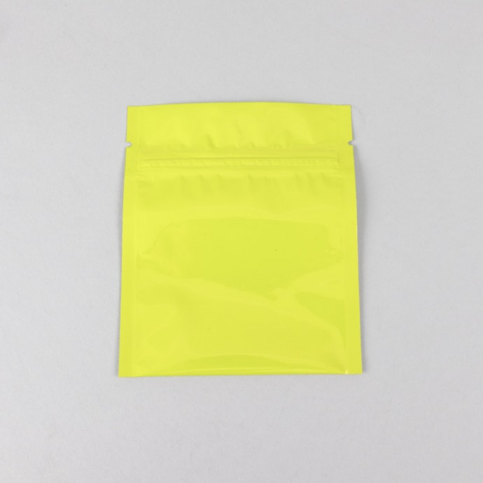 "3.4"" x 4"" OD Yellow Pouch with Zipper; (1,000/case) - 30MYLW03404OZE"