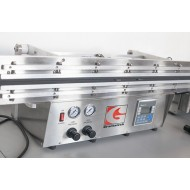 "GVS2100R-PLC: 21"" Double Retractable Nozzles Dual Heat Vacuum Sealer"