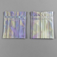 "3.4"" x 4.0"" Holographic (striped) open on the zipper end (fold over bottom) - 034UHGM04OZE"